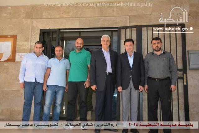 Al Waleed Bin Talal Foundation visit to Al Nabatieh Municipality Aug 26 2014